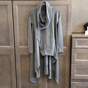 Sweaters - NWT Cowl neck hi-lo hoodie